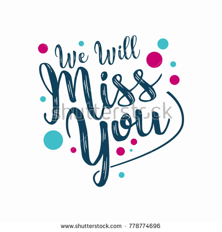 Will Miss You Clipart 27 Stock Vector Farewell Party Template We.