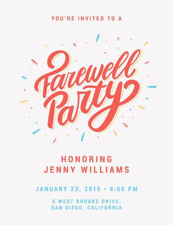 88 Farewell Party Stock Vector Illustration And Royalty Free.
