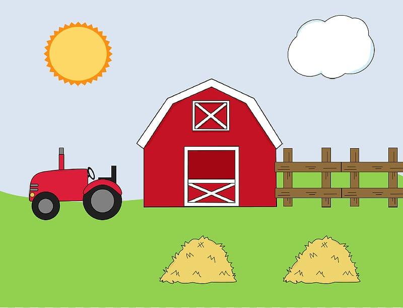 Happy Farm Barn , Barn Template transparent background PNG.