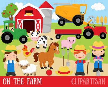 Farm Animals Clipart, Farmer.