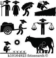 Farmer Clip Art Vectors.