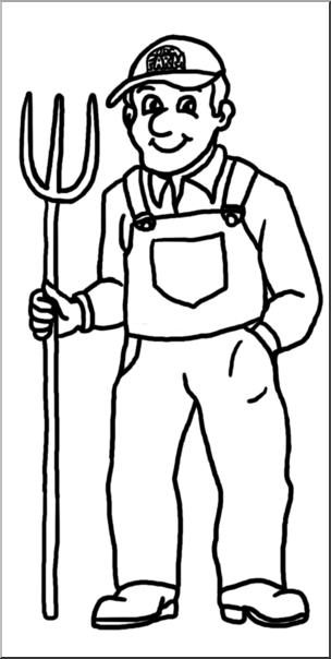 Farmers clipart line art, Farmers line art Transparent FREE.