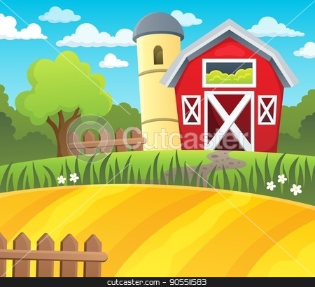 Farmland theme background 1 stock vector.