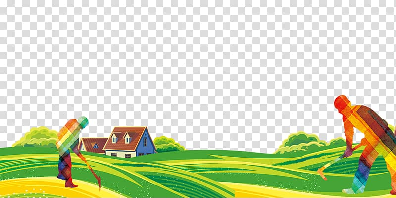 Farmland illustration, Farmer Computer file, Farmers field.