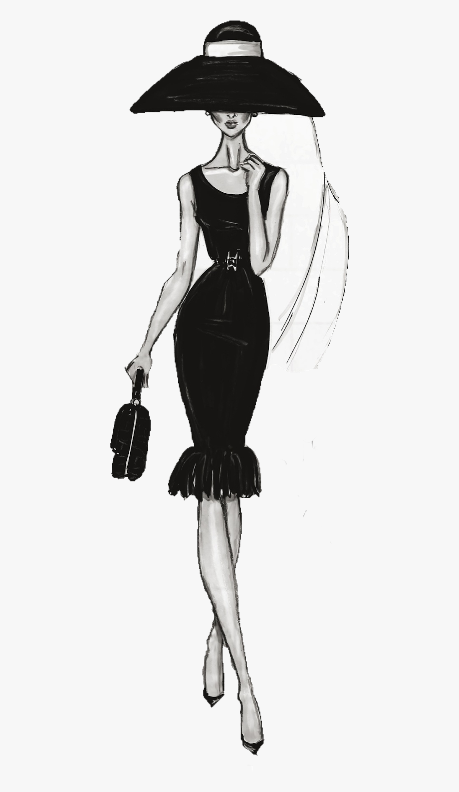 Female Fashion Drawing Illustration Chanel Free Clipart.