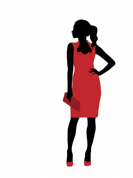 Woman Fashion Model Clipart Free Stock Photo.