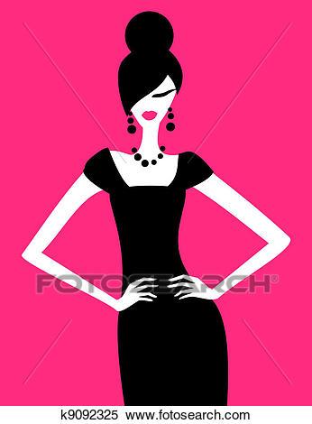 Fashion Model Clipart.