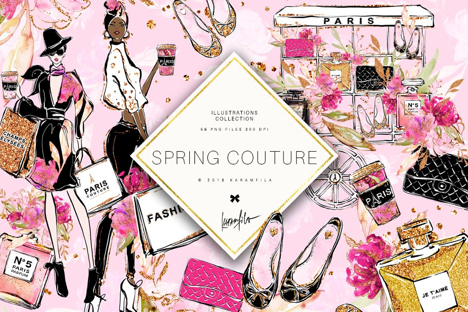 Spring Fashion Clipart ~ Illustrations ~ Creative Market.