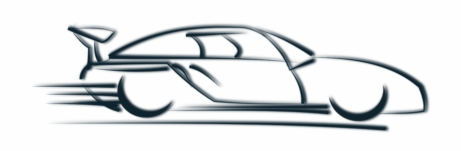 Fast Car Clipart Black And White Free PNG Images & Clipart Download.