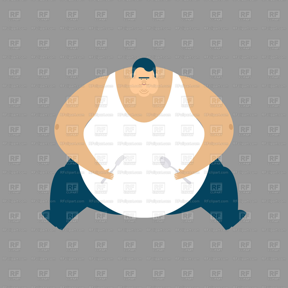 Fat guy sit Stock Vector Image.