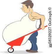 Fat Man Clip Art.