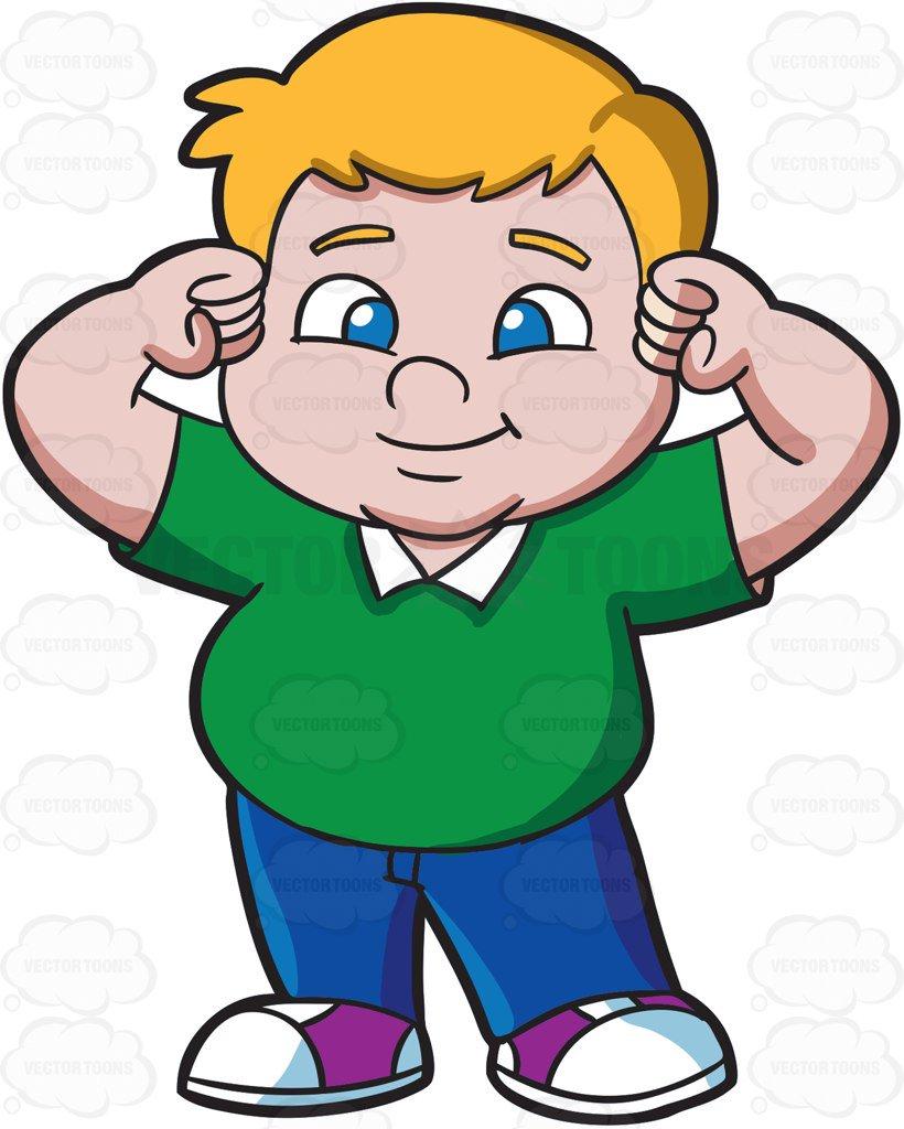 Fat Child Clipart.