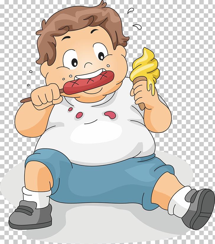 Eating Boy Child , Sitting to eat fat children, man eating.