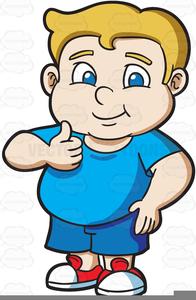 Fat Kid Clipart.