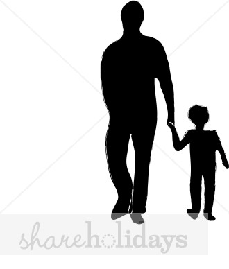 Dad and Child Clipart.