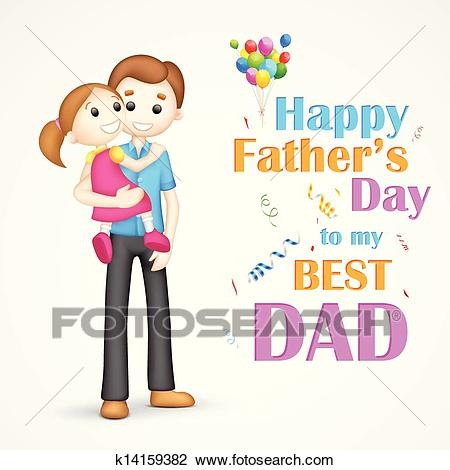 Father and daughter in in Father's Day Clipart.