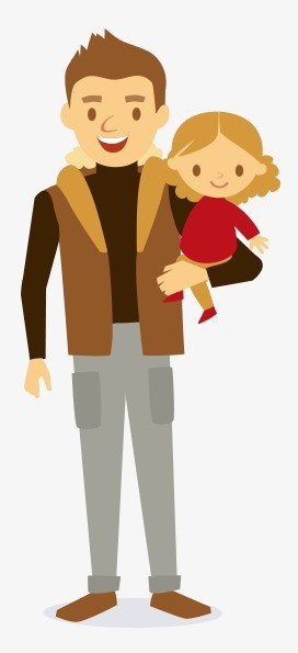 Clipart father and daughter 4 » Clipart Portal.