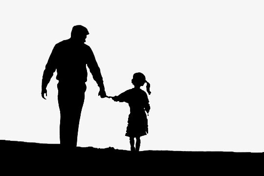 Father And Daughter, Shadow, Black PNG Transparent Clipart.