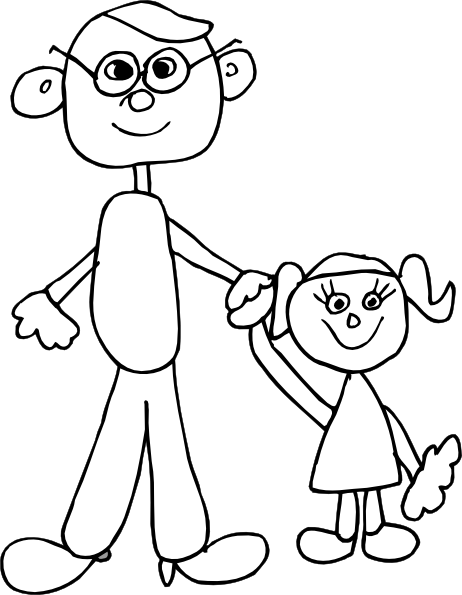 Dad Holding Daughters Hand Clip Art at Clker.com.