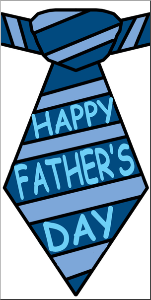 Clip Art: Happy Father\'s Day Tie Color I abcteach.com.