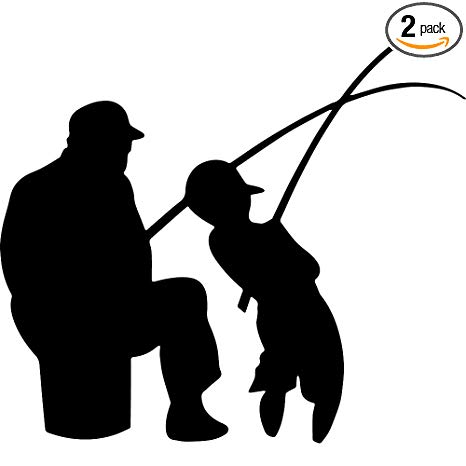 Amazon.com: ANGDEST Father Son Fishing Sportsman (Black.