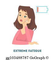 Extreme Fatigue Clip Art.