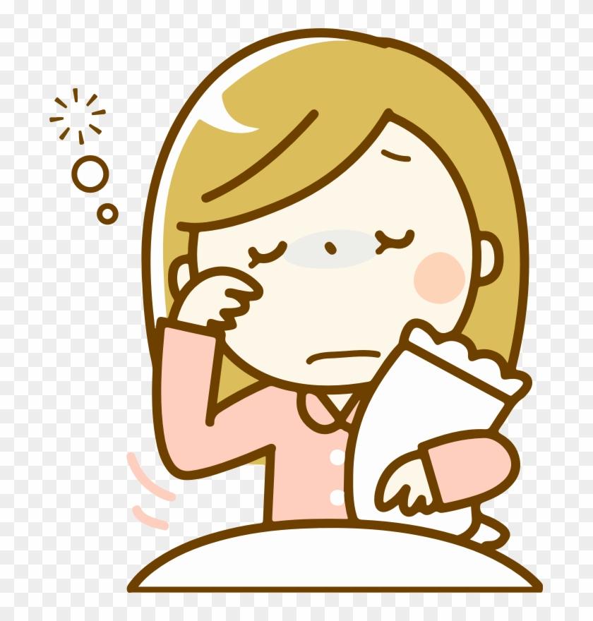 Sleep Woman Fatigue Silhouette Insomnia.