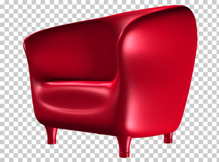 Chair Couch Fauteuil Furniture, Red sofa PNG clipart.