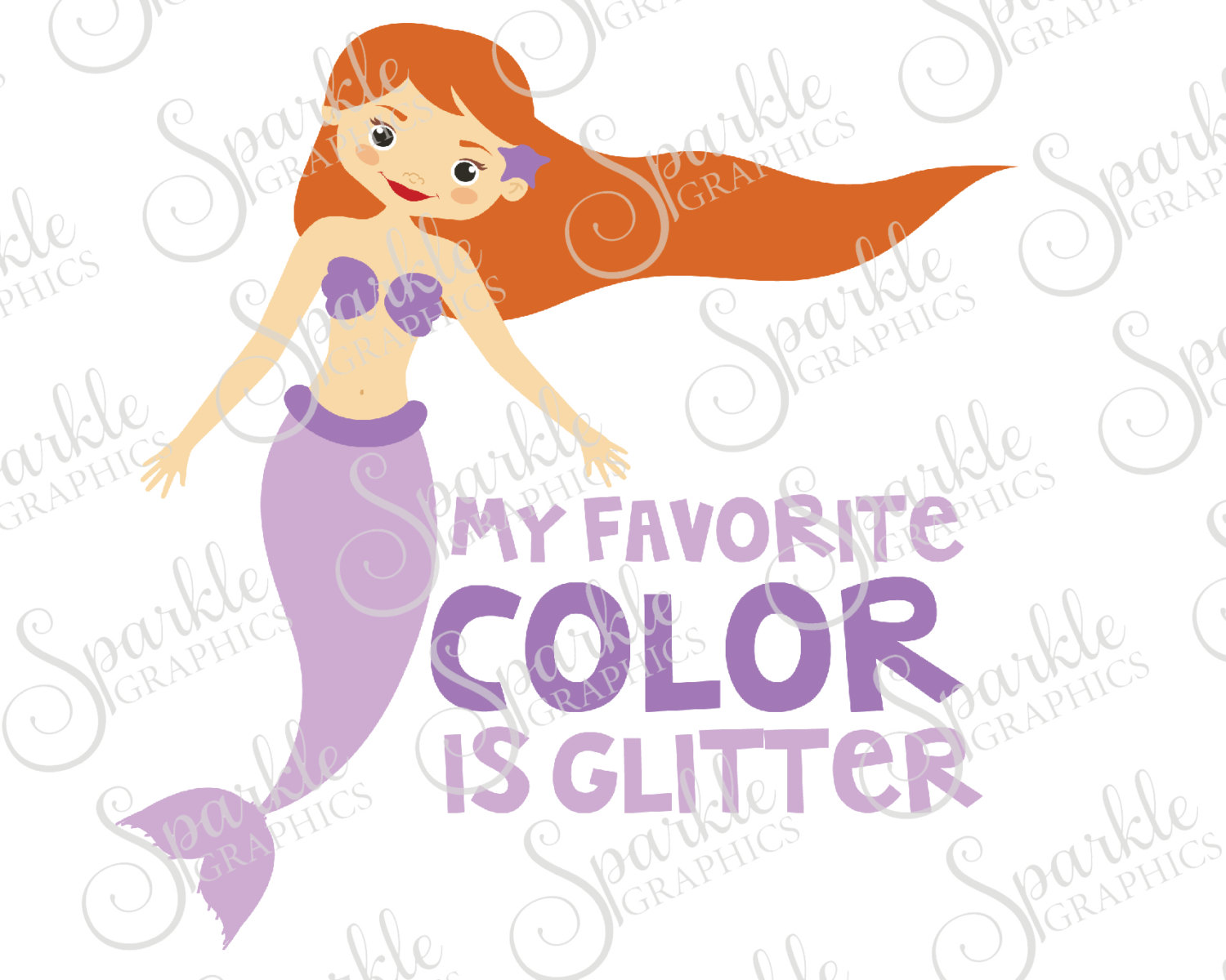 My Favorite Color Is Glitter Cut File Glitter Beach Summer Ocean.