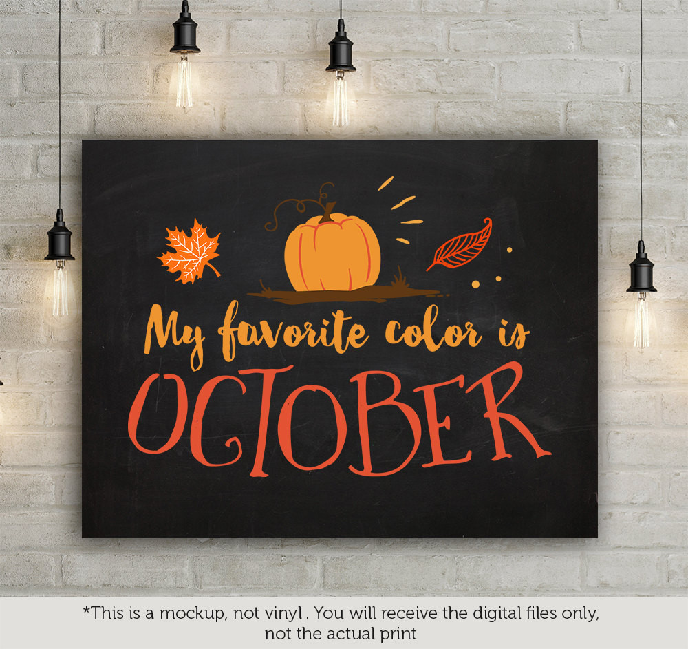 My favorite color is October.