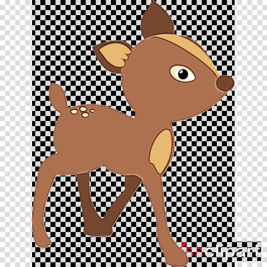 cartoon deer clip art fawn animation clipart.