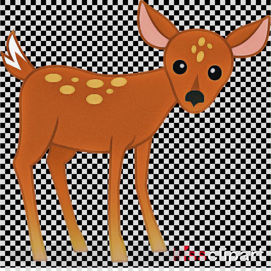 deer fawn roe deer animal figure tail clipart.