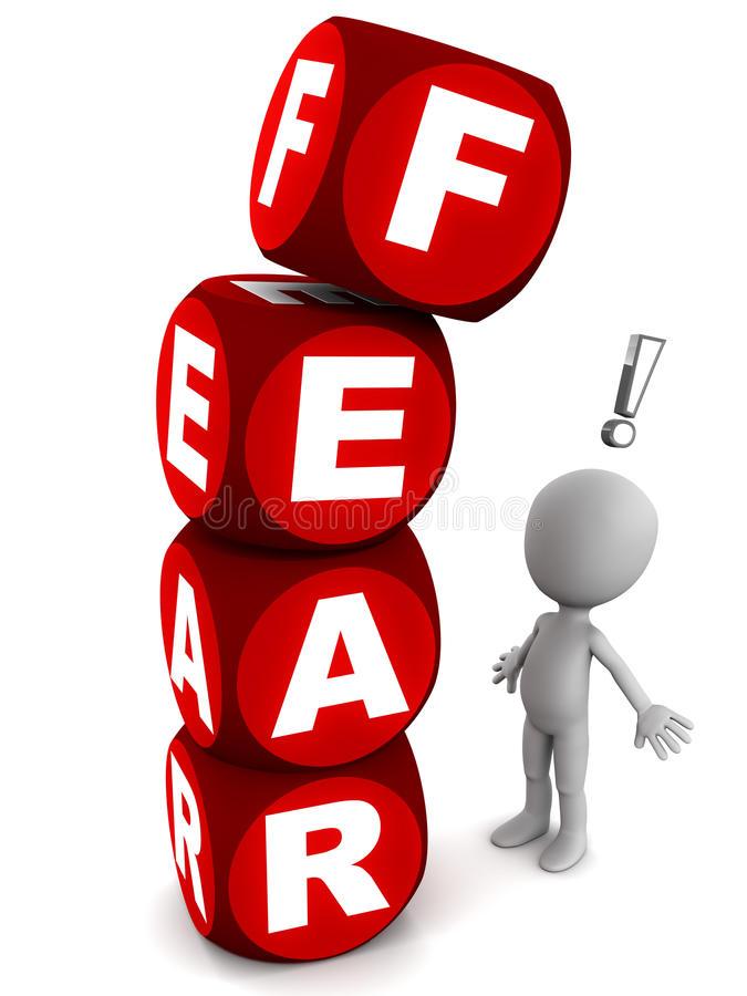 Fear Stock Illustrations.