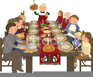 Holiday Feast Clipart.