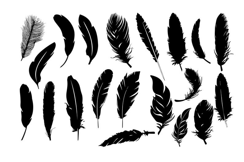 Feather Silhouettes, Feather Clipart, Feather SVG, Feather DXF, Feather  Images, Feather Illustration, Feather svg png eps Buy 2 Get 1 FREE.