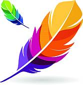 Vibrant Feathers Clipart.