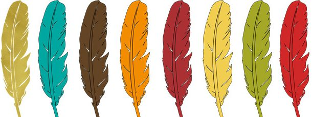 23 Thanksgiving Feathers Clipart Collection.