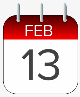 Free February Calendar Clip Art with No Background.