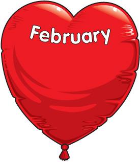 February birthday clipart.