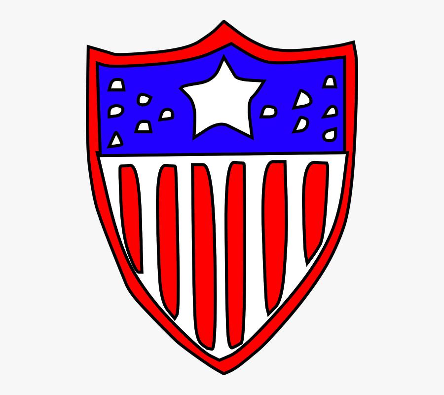 Free Vector Usa Flag Badge Clip Art.