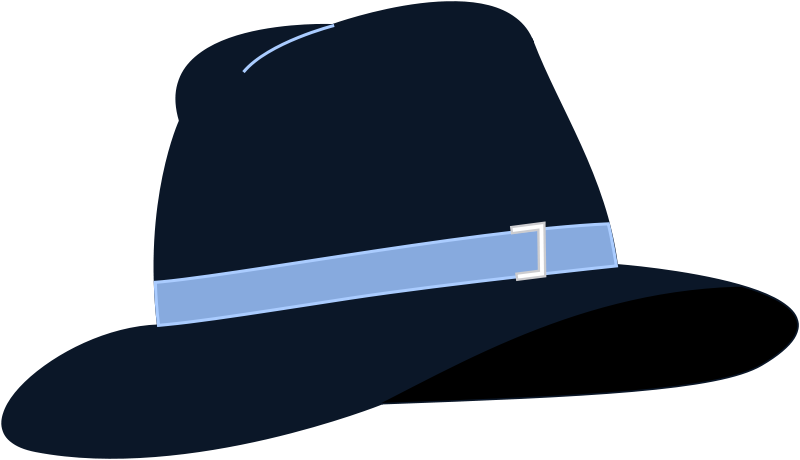 Free Clipart: Fedora Hat.