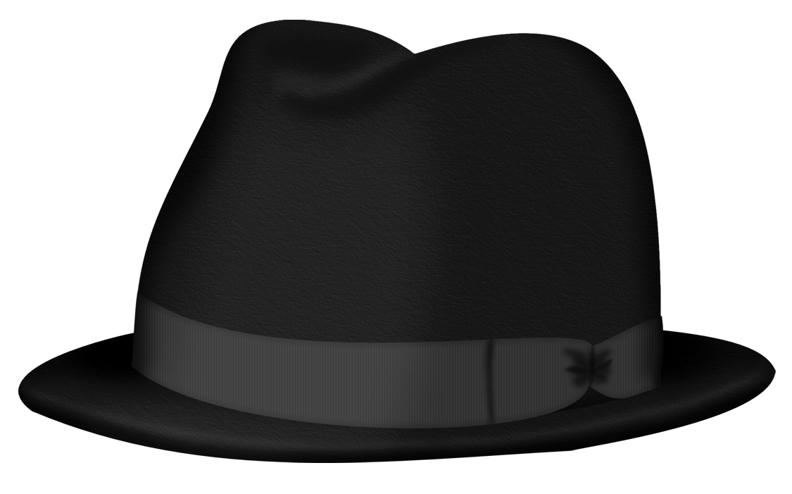 Black Fedora Hat PNG Clipart Picture.