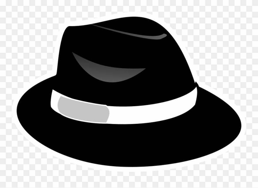 Black Fedora Clipart With Transparent Background.
