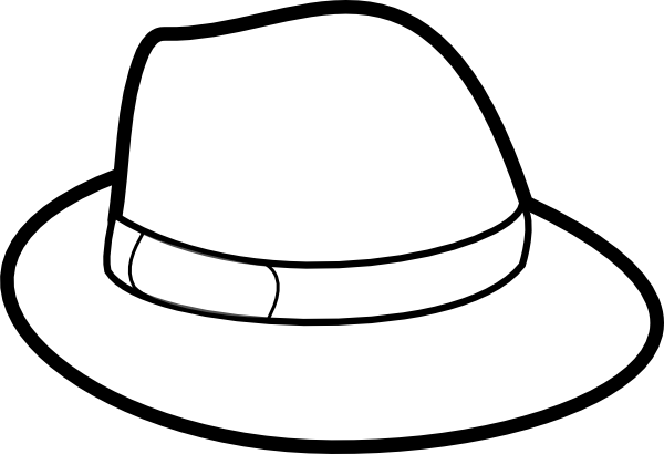 Hat Outline Clip Art at Clker.com.
