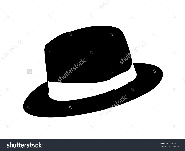 Fedora Hat Style Clip Art Illustration Stock Illustration.