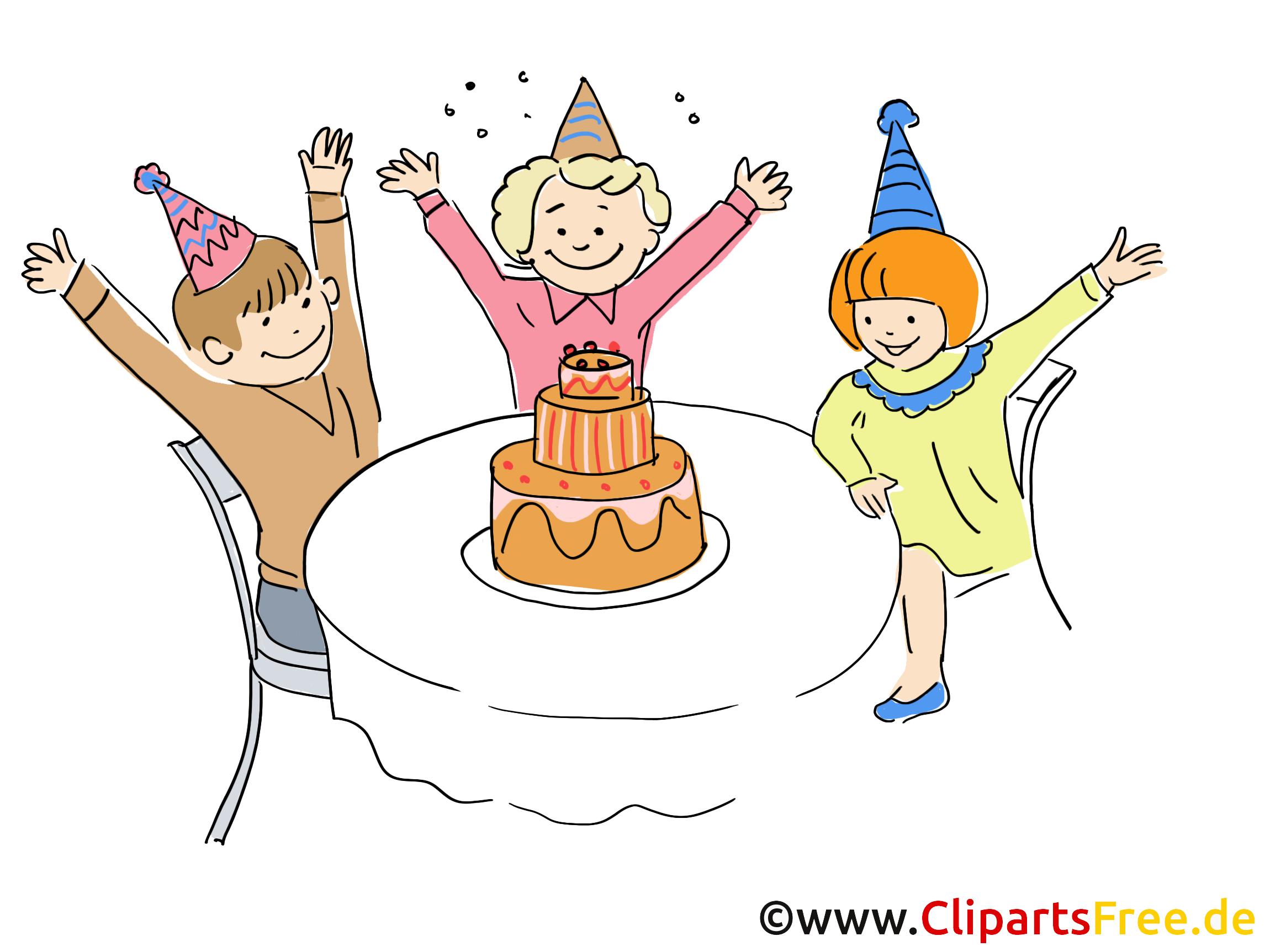 Geburtstag Party Kinder Clipart gratis.
