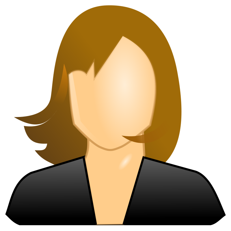 Free Clipart: Female user icon.