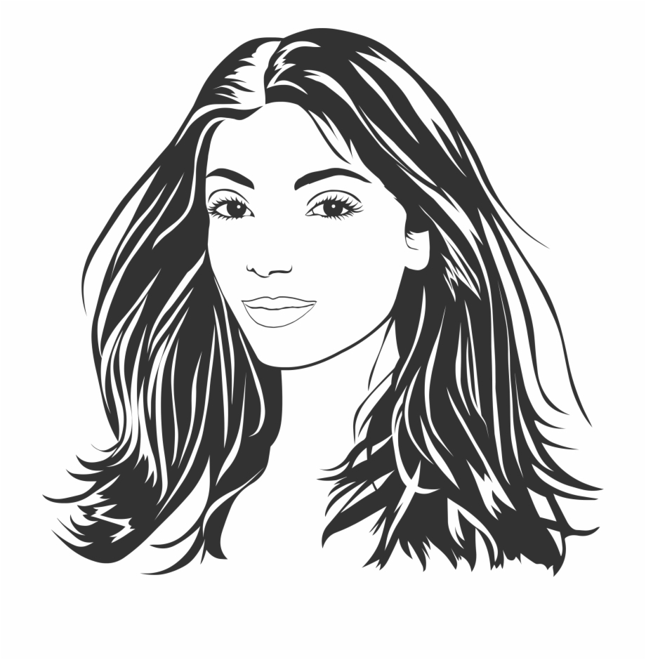 This Free Icons Png Design Of Woman With Long Hair.