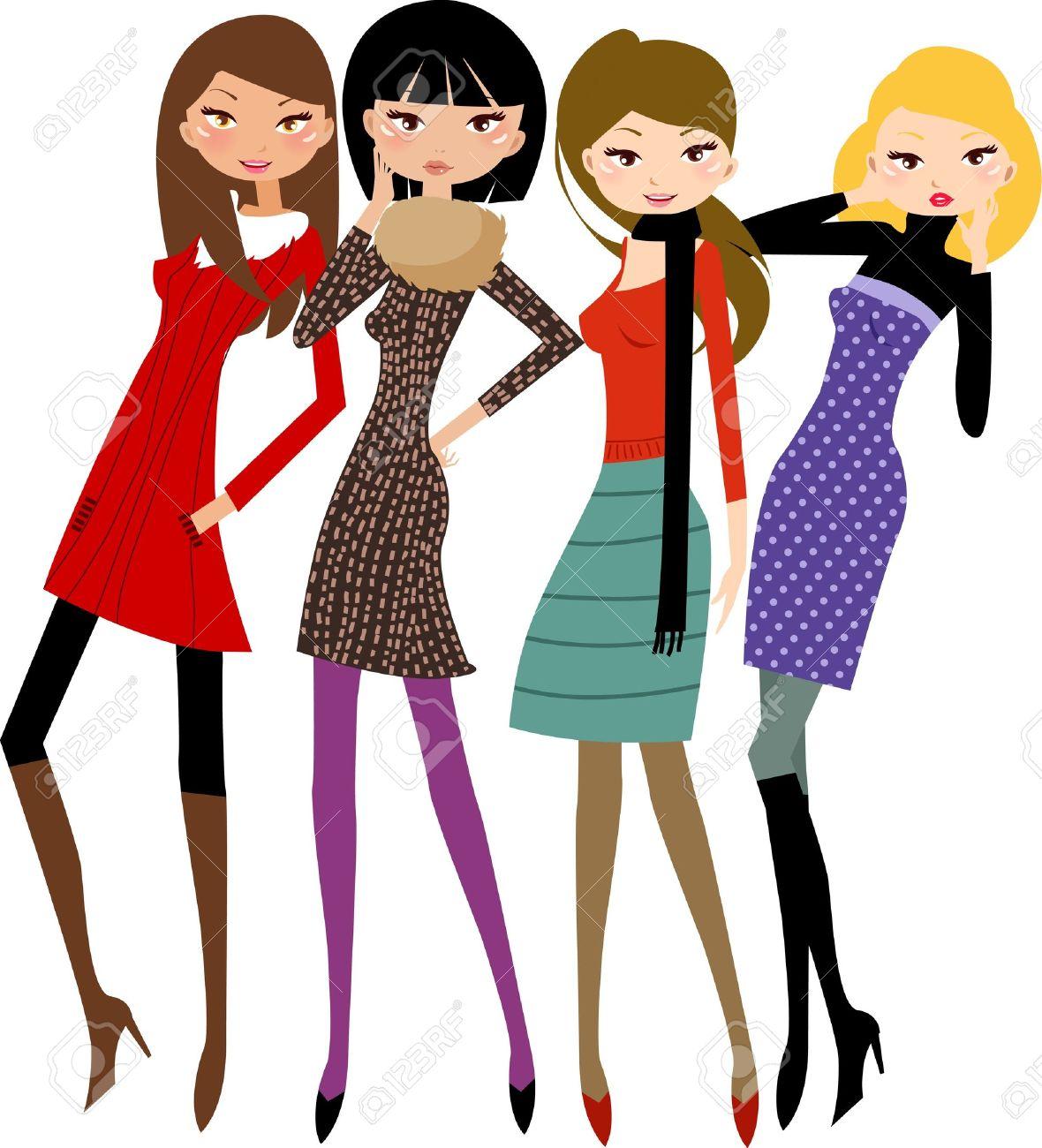 Female Friends Clipart.