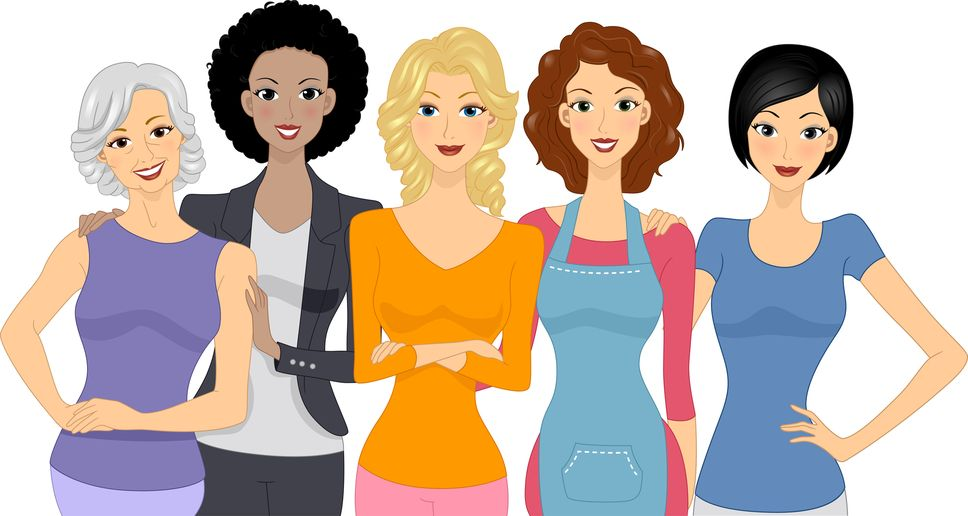 Women\'s Church Group Clipart.